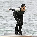 Jennifer Lawrence filmed for Catching Fire in Hawaii.