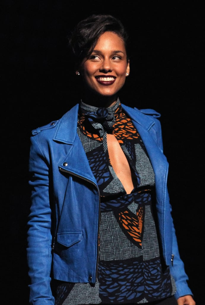 Alicia Keys was a vision in blue.