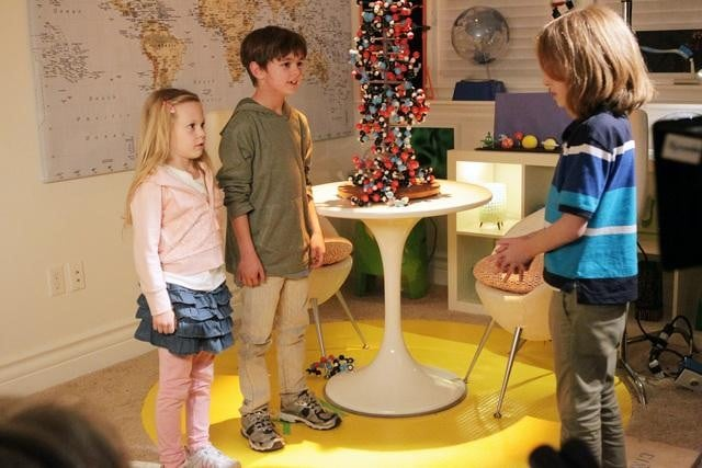 Max Charles, Isabella Cramp, and Ian Patrick on The Neighbors.