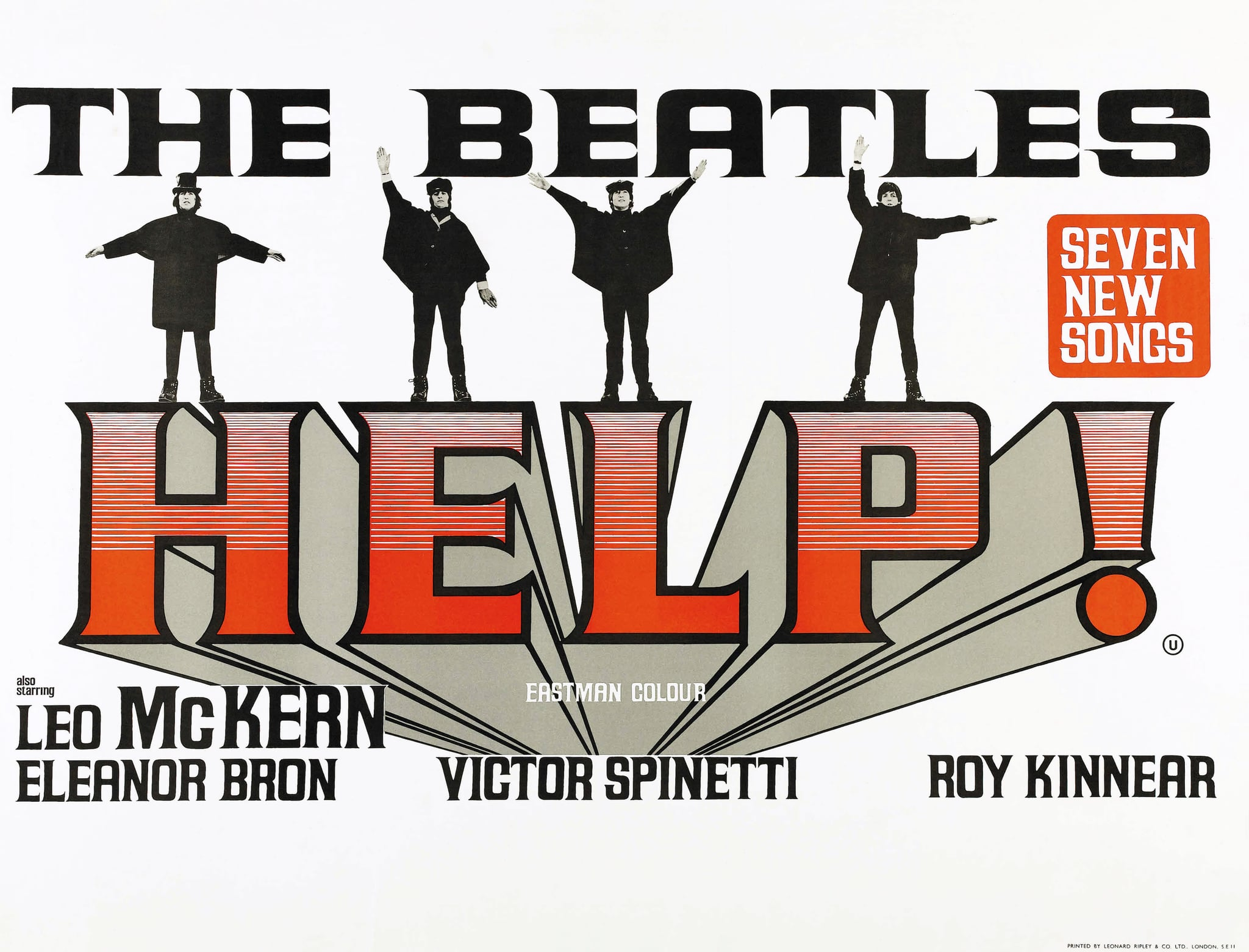 HELP!: The Beatles, US lobbycard, from left: George Harrison, Ringo Starr, John Lennon, Paul McCartney, 1965