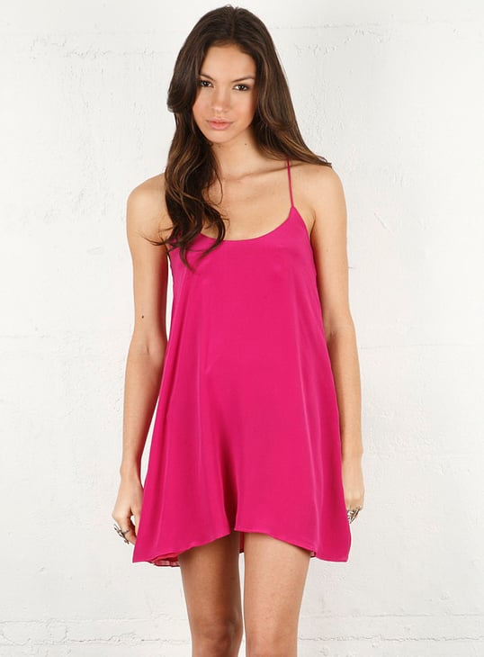 Take this barely-there fuchsia dress out for a night on the town.  Backstage Carrie Dress in Fuschia ($154)