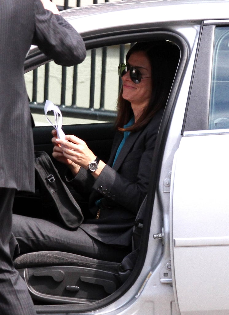 Sandra Bullock got into character on set.