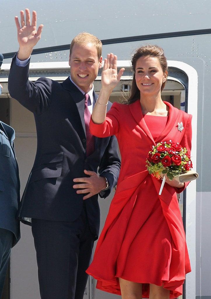 The Royal Couple Leaving Canada