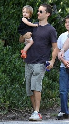 Tobey and Ruby Maguire partied with Coco Arquette and her parents on Easter Sunday.