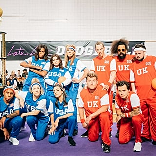 Michelle Obama Brought Some Badass Backup For Her Dodgeball Game Against James Corden