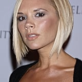 Popstar-turned-designer Victoria Beckham's asymmetrical blond bob is one of the more iconic hairstyles of the 2000s.
