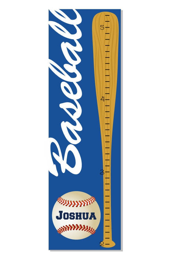Track Your Childs Height On This Baseball Themed Growth Chart 35