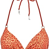 Lazul Leopard Print Triangle Bikini Top