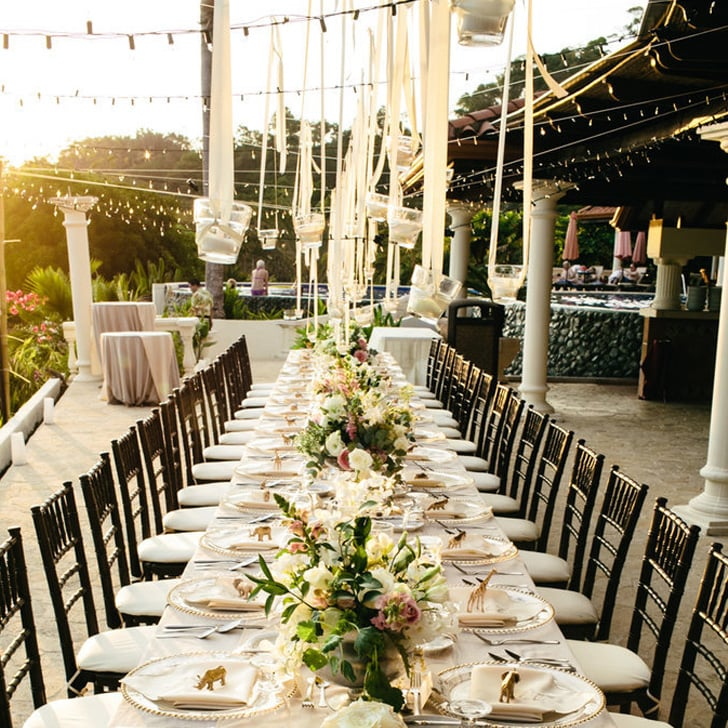 Ideas for outdoor wedding reception tables popsugar home junglespirit Choice Image