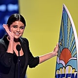 In 2014, Selena Gomez got emotional after being honored with the ultimate choice award.