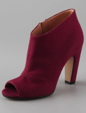 Maison Martin Margiela Felted Open Toe High Heel Booties ($985)