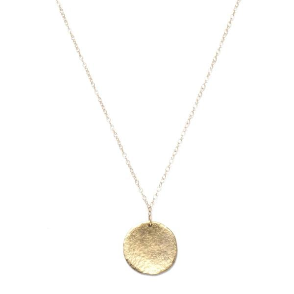 Alicia Marilyn Hammered Coin Necklace