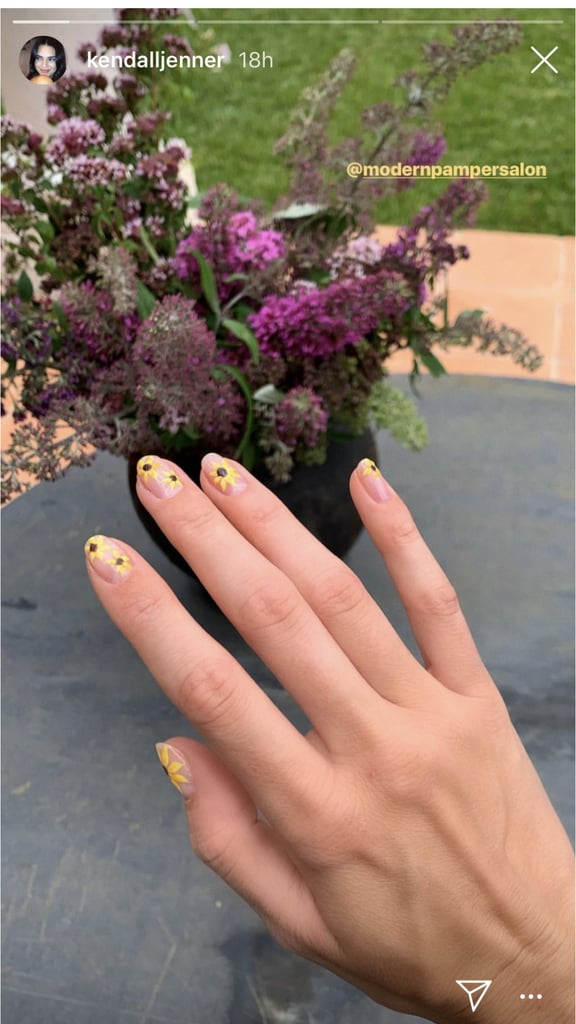 Kendall Jenner's Sunflower Manicure