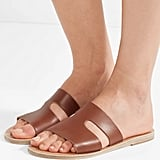 Ancient Greek Sandals Apteros Cutout Leather Slides
