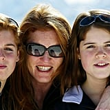 Princess Eugenie, her mother, and her sister enjoyed skiing in Switzerland in 2004.