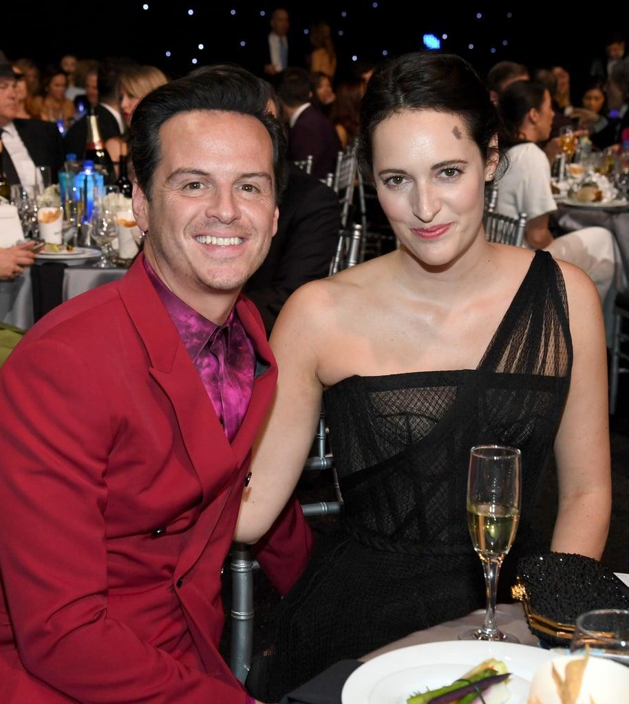 Andrew Scott and Phoebe Waller-Bridge at the 2020 Critics' Choice Awards