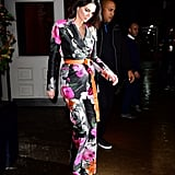 In February, Kendall wore a statement floral suit from Off White's Spring Summer 2018 collection.