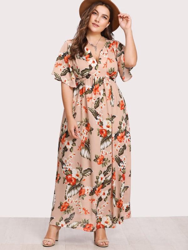 57b044a106 Shein Belted Tropical Dress | Summer Maxi Dresses 2018 | POPSUGAR ...