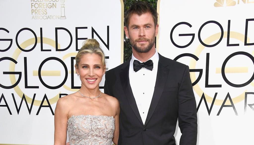 Chris Hemsworth and Elsa Pataky at the 2017 Golden Globes