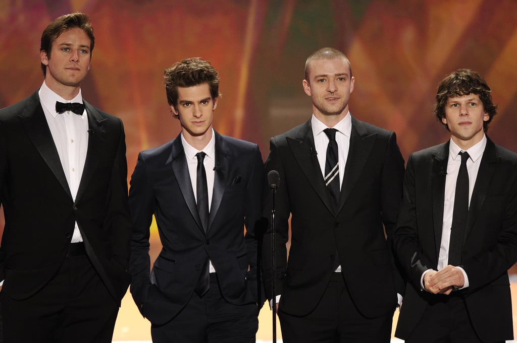 The handsome boys of The Social Network presented an award together during the 2011 show.