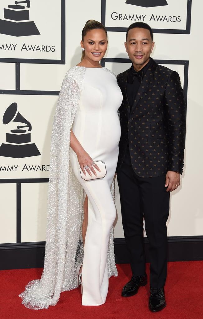 Chrissy Teigen and John Legend at the Grammys 2016
