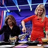 Gwyneth Paltrow filmed a cooking segment on Spanish talk show El Hormiguero.