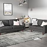 US Pride Furniture Elvin 2-Piece Linen Fabric Living Room Set