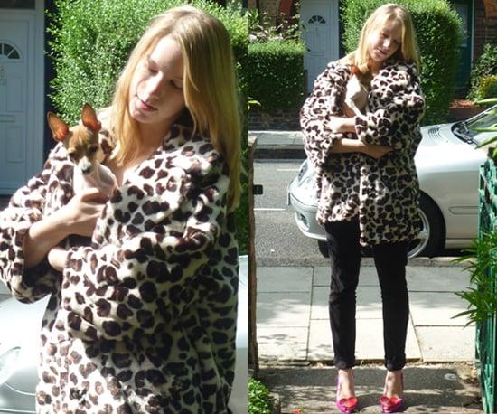 Sonia Rykiel Faux Fur Leopard Print Coat