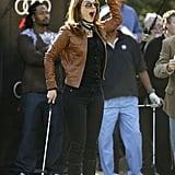 Teri Hatcher celebrated a shot in Phoenix, AZ, in January 2008.