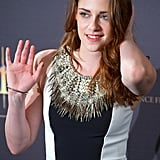 Kristen Goes Ladylike For a Photocall in Madrid With Robert