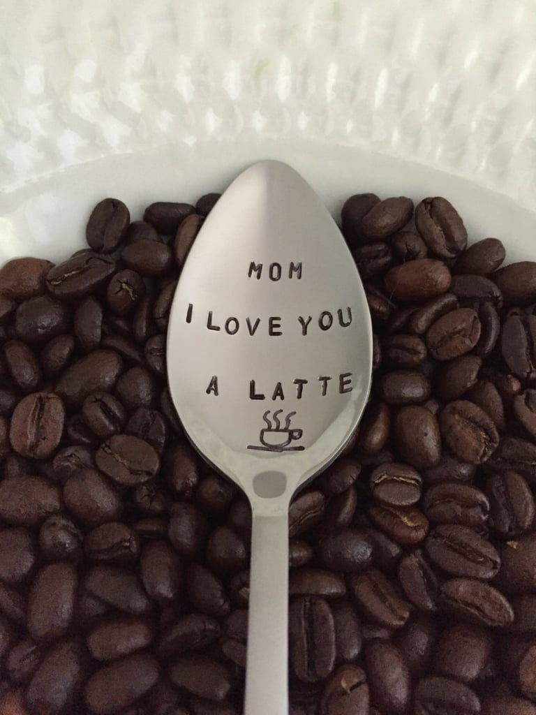Mom I Love You A Latte Hand Stamped Spoon