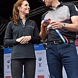 Kate and Will showed off their sporty side when they attended the America's Cup World Series at the Race Village in England in July.