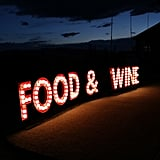Food & Wine Sign