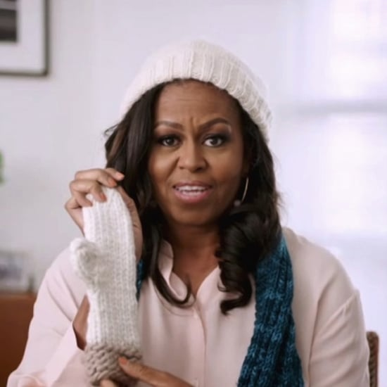 Michelle Obama Knits Scarves, Hats, and Gloves in Lockdown