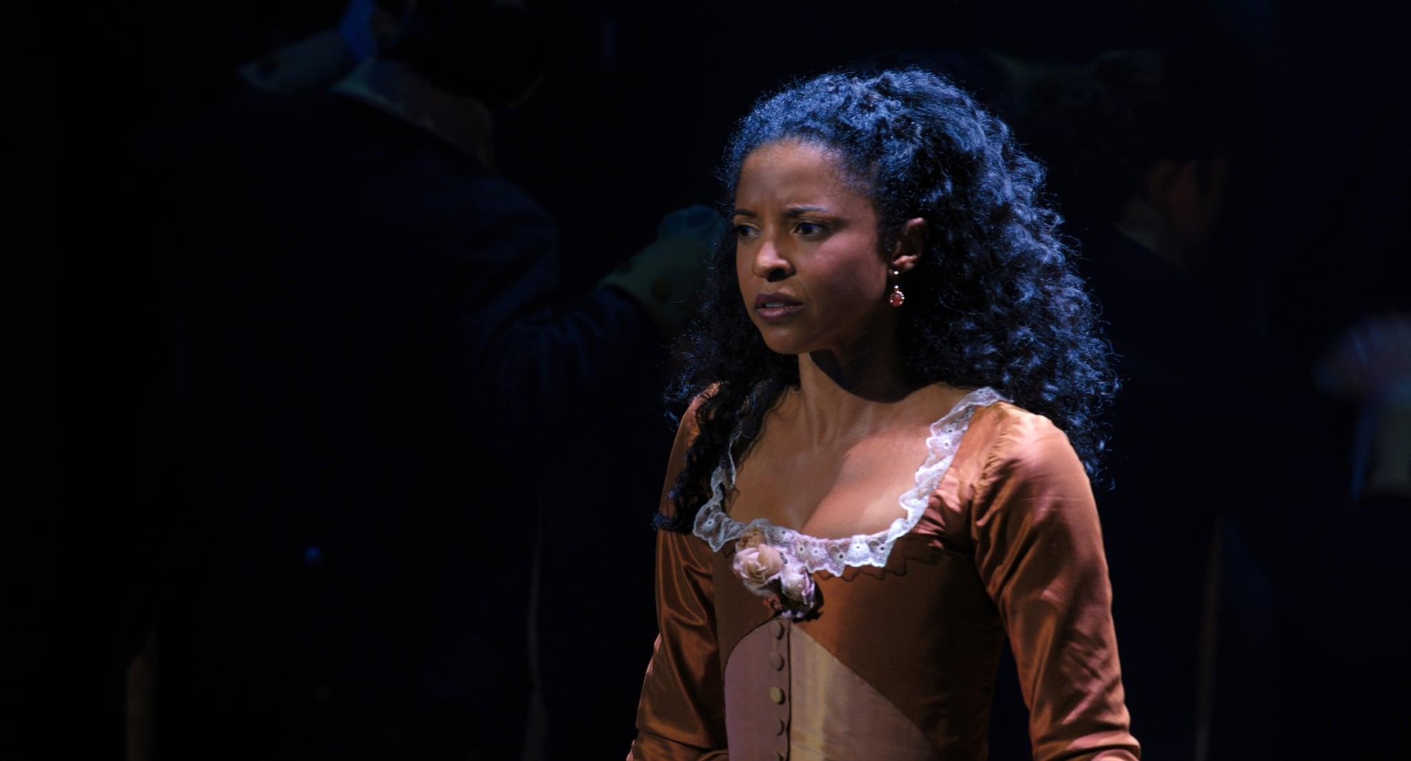 HAMILTON, Renee Elise Goldsberry as Angelica Schuyler, 2020.  Disney+ / Courtesy Everett Collection