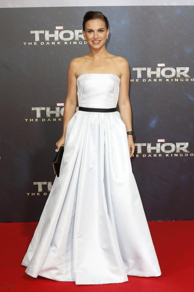 Natalie Portman in a Strapless Christian Dior at the 2013 Thor: The Dark World Berlin Premiere