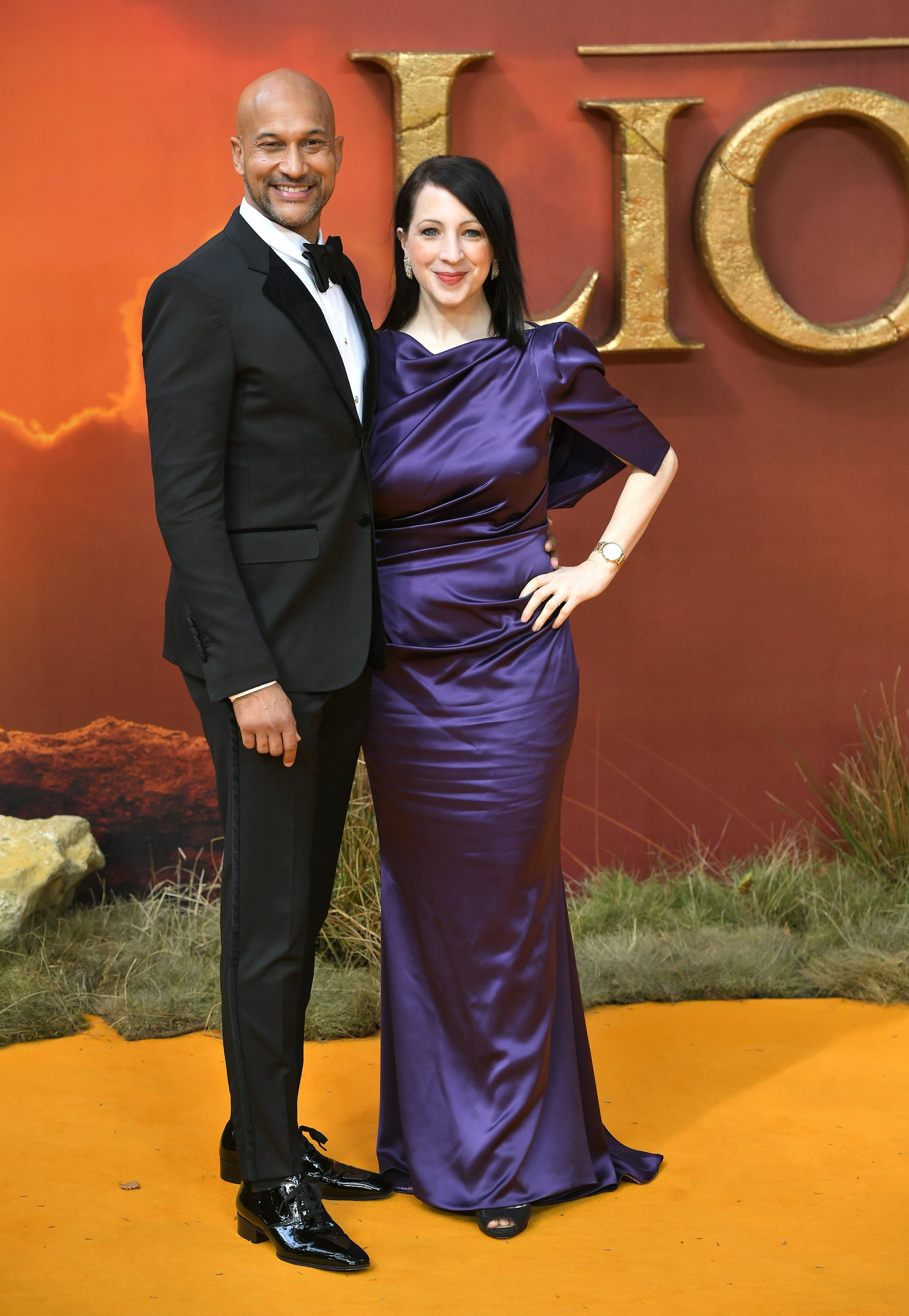 Pictured Keegan Michael Key And Elisa Key At The Lion King