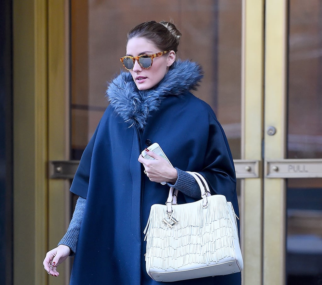 Olivia Palermo Wearing a Cape Street Style