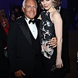 Giorgio Armani and Melissa George attended the Haiti Carnival in Cannes event.