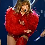 Jennifer Lopez performed at the Billboard Music Awards.