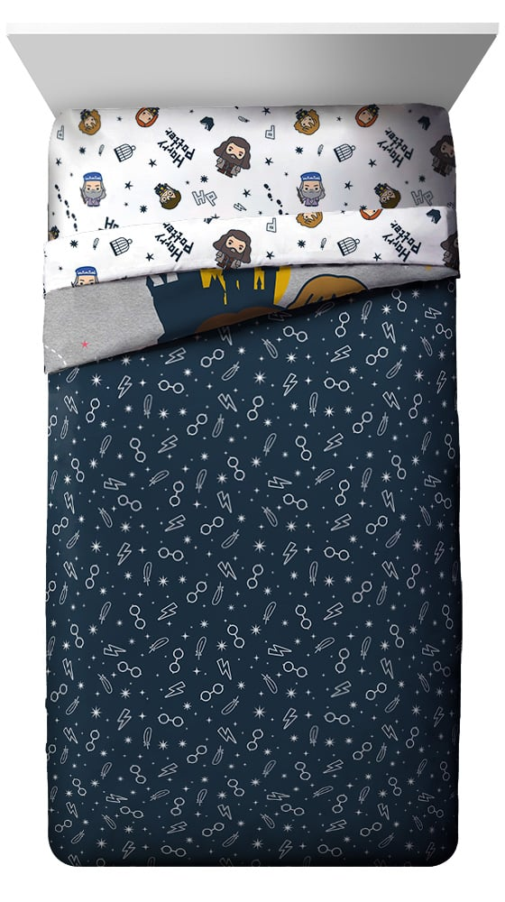 Harry Potter Hogwarts Icons Bed in a Bag Reversible Bedding