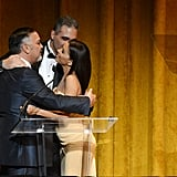 Eva Longoria shared the stage with several Latino activists Sunday night at the Latino Inaugural celebration.