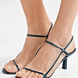 The Row Nude Leather Sandals ($928.12)