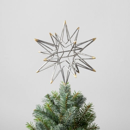 11 moravian star tree topper 15 hearth and hand holiday collection 2017 popsugar home. Black Bedroom Furniture Sets. Home Design Ideas