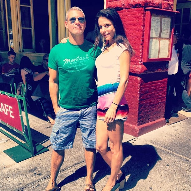 Andy Cohen ran into Bethenny Frankel on the streets of NYC. Source: Instagram user bravoandy