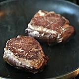 Get the recipe: pan seared thick-cut strip steaks from Cook's Illustrated