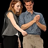 Andrew and Emma pointed out fans in Singapore in March 2014.