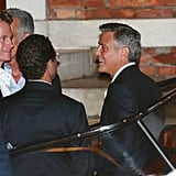 George Clooney laughed with his pals.