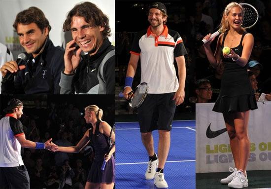 Bradley Cooper and Bar Rafaeli Play Tennis with Rafael Nadal, Maria Sharapova, Roger Federer