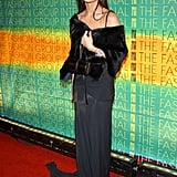 In slinky, floor-length black at the Fashion Group International Presents The 20th Annual Night of Stars in 2003 in NYC.